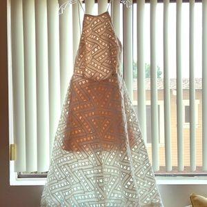 Womens white eyelet dress